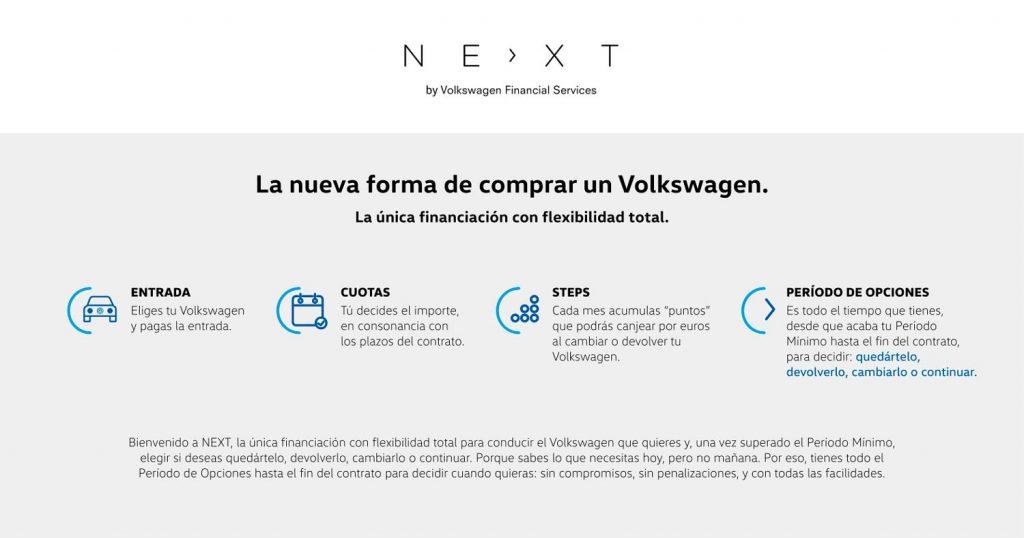 NEXT es el nuevo método de compra de Volkswagen