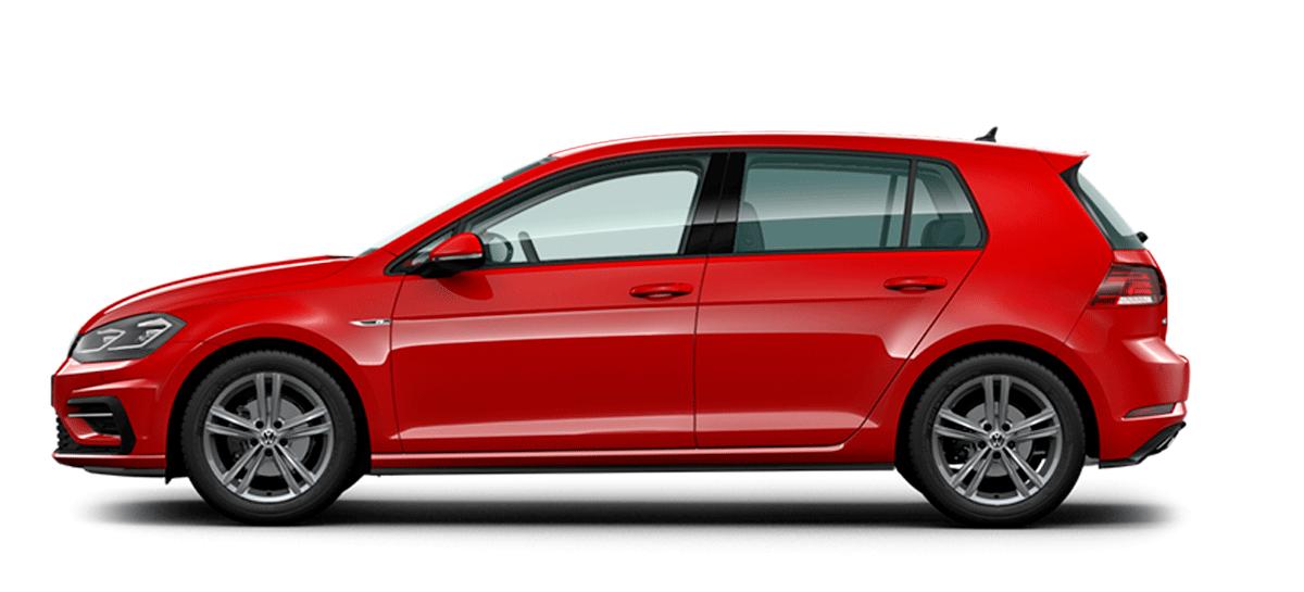 Volkswagen Golf rojo zaragoza