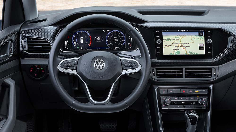 Inteiror del Volkswagen TCROSS