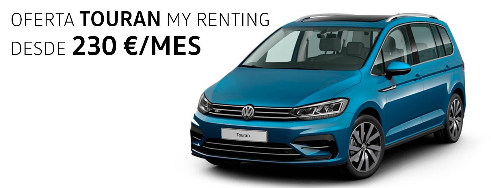 Volkswagen Touran renting zaragoza