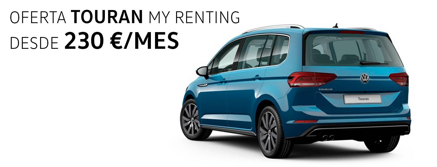 Volkswagen Touran renting en Zaragoza