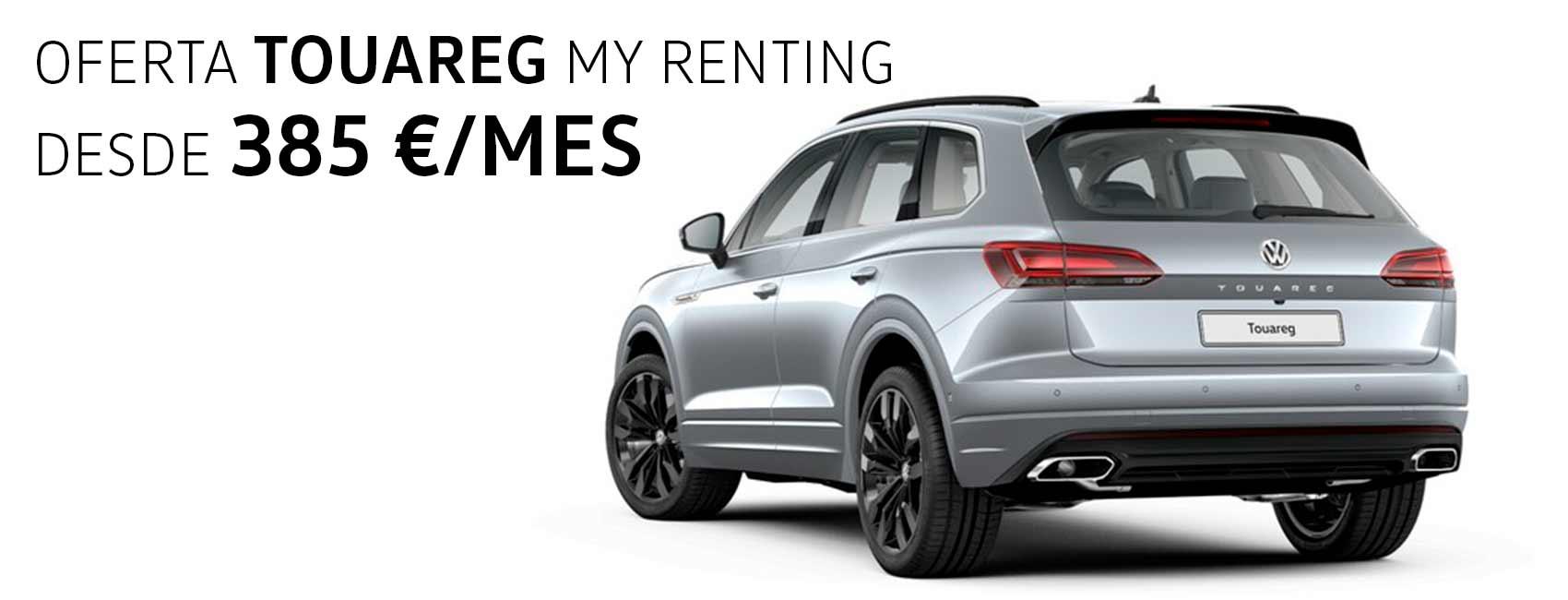 Volkswagen Touareg renting Zaragoza