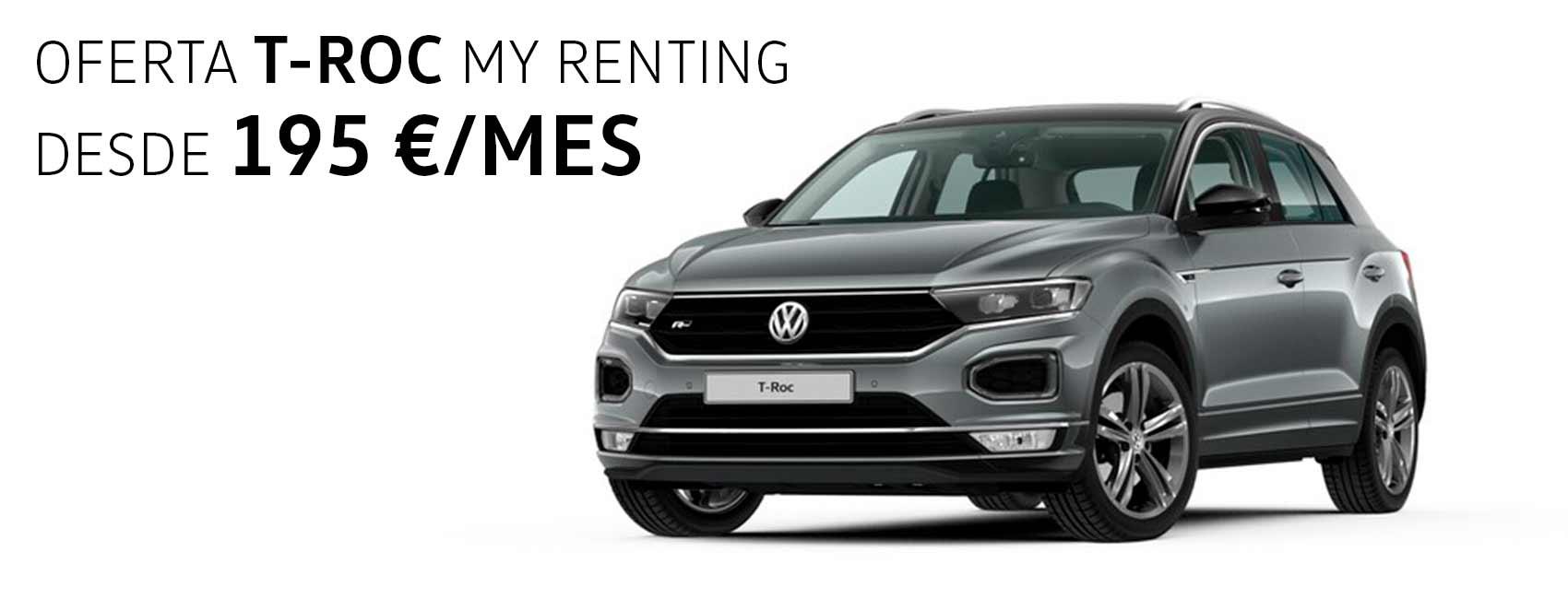 Volkswagen TROC renting Zaragoza