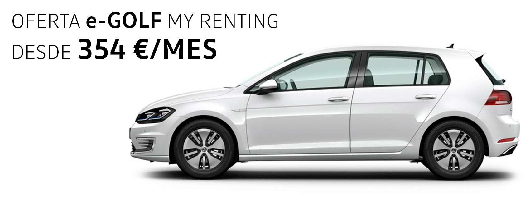 Volkswagen e-Golf renting Zaragoza