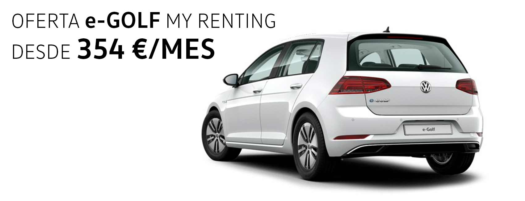 Renting e-Golf Zaragoza Volkswagen